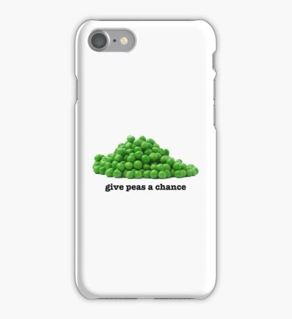 Give peas a chance iPhone Case/Skin
