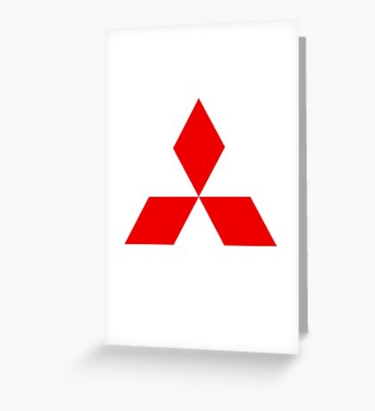Mitsubishi Logo Greeting Card