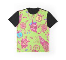 Tutti Frutti on Lime Green Graphic T-Shirt
