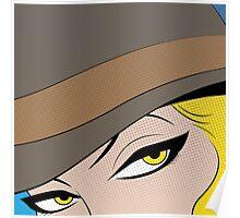 Girls Eyes Halftone Poster