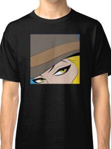 Girls Eyes Halftone Classic T-Shirt