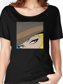 Girls Eyes Halftone Women's Relaxed Fit T-Shirt