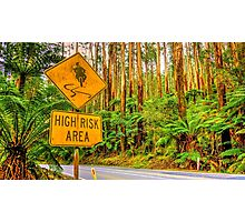 High Risk Area Photographic Print