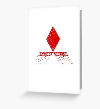 Mitsubishi Logo Rust Greeting Card