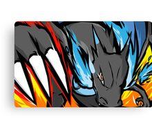 Mega Charizard X | Dragon Claw Canvas Print