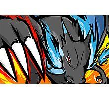 Mega Charizard X | Dragon Claw Photographic Print