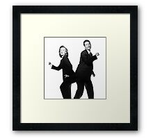 X Files // They boogie Framed Print