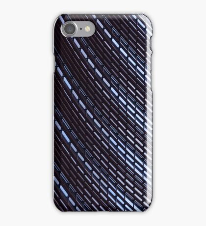 Facade of a skyscraper with metal construction iPhone Case/Skin