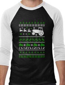 Christmas - Farmer Ugly Christmas Men's Baseball ¾ T-Shirt