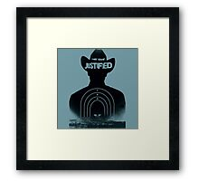 Timothy Olyphant Justified Framed Print
