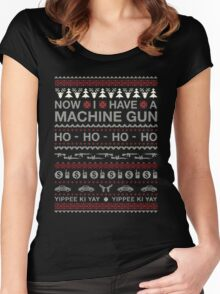 Christmas - Now I Have A Machine Gun Ho Ho Ho Women's Fitted Scoop T-Shirt