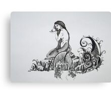 Mermaid and the Monster Canvas Print