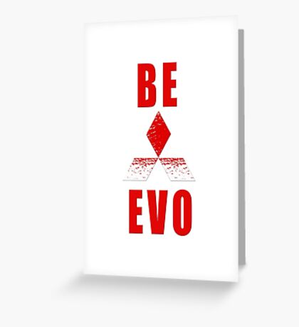 Mitsubishi EVO Greeting Card