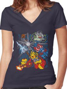 Avengermon! Women's Fitted V-Neck T-Shirt