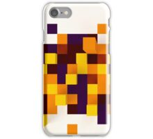 Abstract 3d rendering of brown and orange squares. iPhone Case/Skin