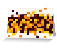 Abstract 3d rendering of brown and orange squares. Greeting Card