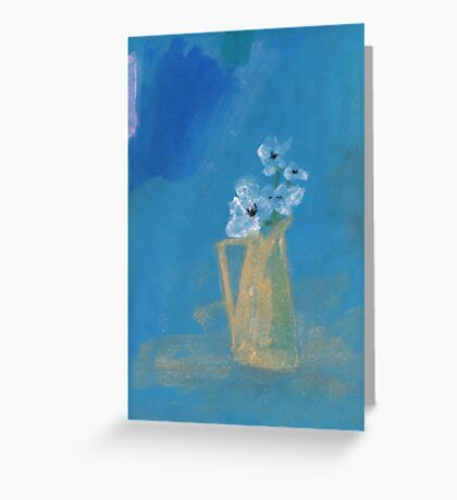 White poppies Greeting Card