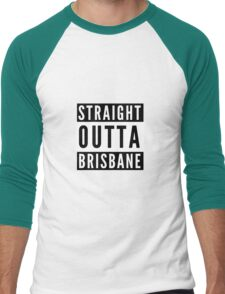 Straight Outta Brisbane Men's Baseball ¾ T-Shirt