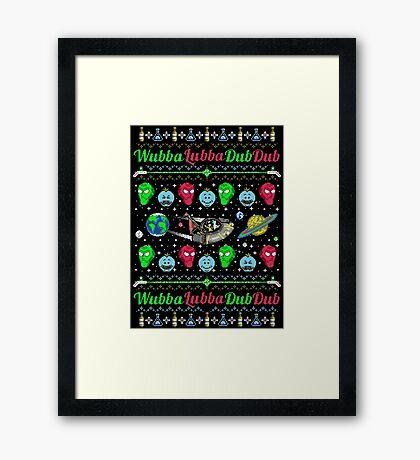 A Wubba Lubba X-mas Framed Print