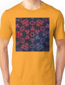 Blue and red glow mandala Unisex T-Shirt