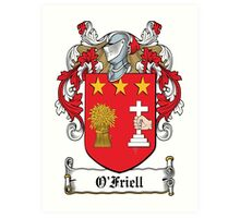 O'Friell Coat of Arms (Donegal) Art Print