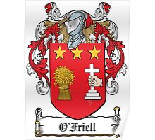 O'Friell Coat of Arms (Donegal) Poster