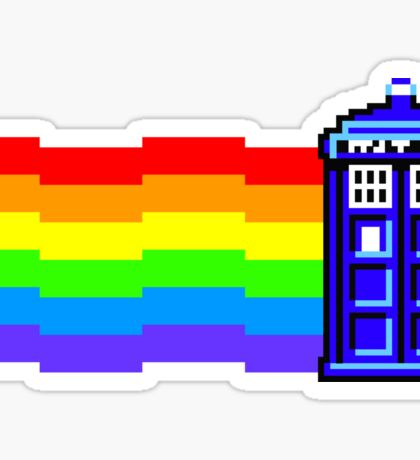 nyan tardis Sticker
