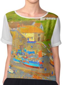 Cadgwith Cove Harbour Chiffon Top