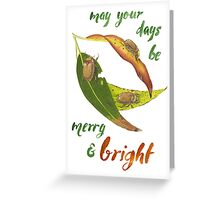 Christmas Beetles Greeting Card