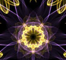 Smoky Gold, Purple, Black Star Artwork by Cynicallia Olexa Sticker