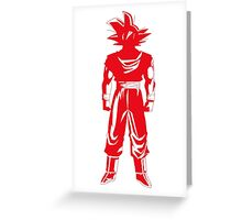 Warrior (red) Greeting Card