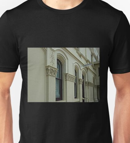 *Architectural Detail on outside of Library* Unisex T-Shirt