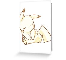 Sleepy Chu Greeting Card