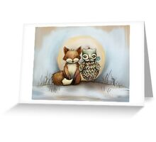 fox and owl Greeting Card