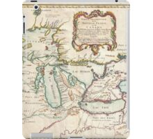 Vintage Map of The Great Lakes (1755) iPad Case/Skin