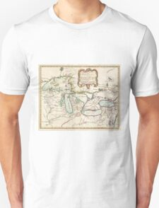 Vintage Map of The Great Lakes (1755) T-Shirt