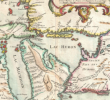 Vintage Map of The Great Lakes (1755) Sticker