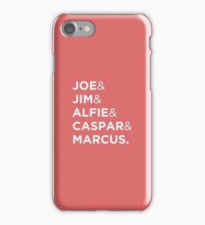 Joe & Jim & Alfie & Caspar & Marcus iPhone Case/Skin