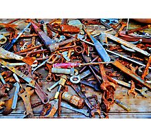 A Rusty Collection. Photographic Print