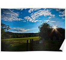 Countryside Summers Evening Poster