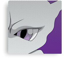 Mewtwo Halftone Canvas Print
