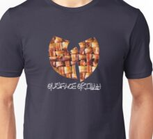Da Mystery of Chest Bacon (white print) Unisex T-Shirt