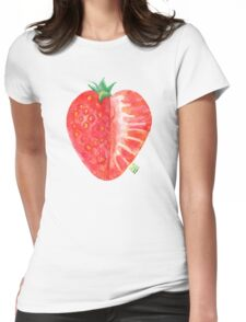 Strawberry, red and juicy Womens Fitted T-Shirt