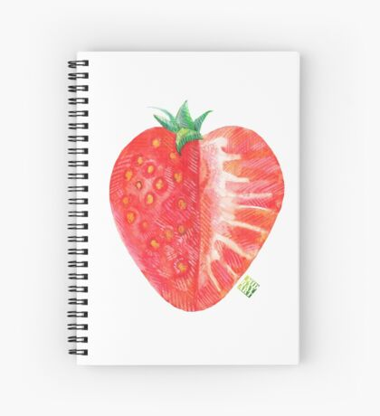 Strawberry, red and juicy Spiral Notebook