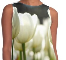 White Tulips Contrast Tank