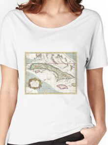 Vintage Map of Cuba and Jamaica (1763) Women's Relaxed Fit T-Shirt