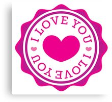 I LOVE YOU (Stamp Icon) Canvas Print