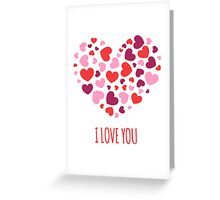 I Love You (Minimalist Art) Quote Greeting Card