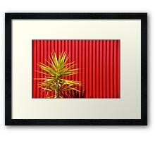 sharp contrast Framed Print