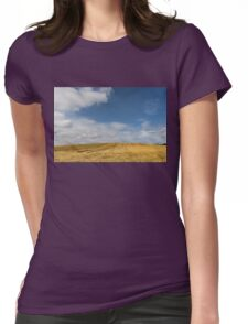 Rows of Straw -  Womens Fitted T-Shirt